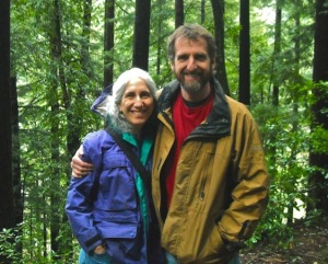 Debra Bell, MD, hiking wth her husband, Daniel Wolpert.