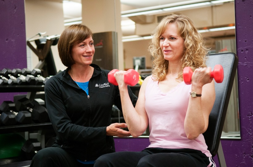 Fitness training session