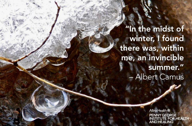 Inspirational quote for winter.